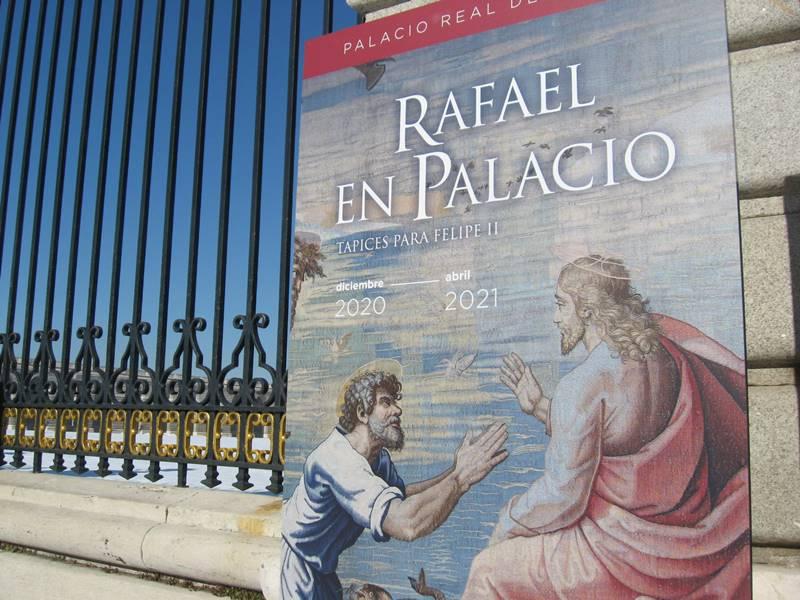 El Palacio Real expone excepcionalmente los tapices de Felipe II tejidos sobre cartones de Rafael